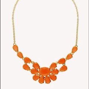 Kate Spade Plaza Athenee orange bib necklace